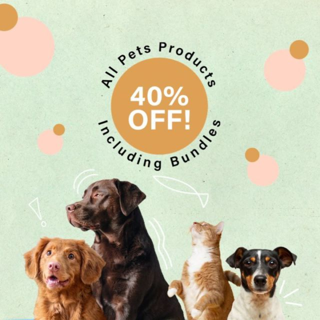 💫 40% off all CBD Pets products 💫  We're excited to share our biggest CBD for Pets sale ever – for 3 days only!  Treat your furry friends to calm and relaxation with our CBD Pets oils, available in 200MG, 600MG, and bundles 🐱🐶  💚 CBD Fur Everyone 💚  Did you know animals suffer the same ailments and discomforts as humans, from separation anxiety to arthritis and joint pain? resolveCBD Pets Oil can help alleviate these symptoms so your companion can live a fuller life.   Our Pets Oil is formulated with Wild Alaskan salmon oil, making the flavour favourable to dogs and cats. Add the desired amount to your pet's food once or twice a day as needed.   Unsure of how much CBD oil is right for your pet? Use our Pet Dosing Charts as a guide for our recommended measurements. Hit the link in our bio for more info 😊  . .   #dogs #puppy #dogstagram #doglife #furmom  #cbdforpets #cbddogs #pets #health #sale #blowout #cbdcats #cats #health #wellness